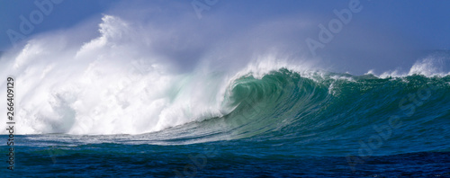 Beautiful Ocean wave panorama in Hawaii