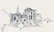 Drawing Sketch Illustration Of...