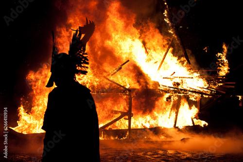 Fotografija Up Helly Aa Galley Burning