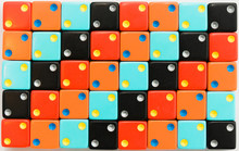 Colorful Dice All Displaying The Number Two And Arranged In A Pattern.