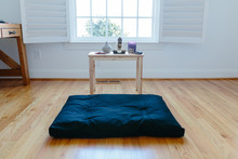 View Of A Meditation Cushion A...