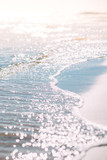Summer sand beach and seashore waves background