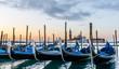 Venedig San Giorgio Maggiore mit Gondeln am Morgen