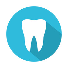 Tooth Icon With Shadow. Vector