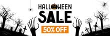 Halloween Sale Banner -50% - A...
