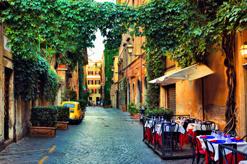 Beautiful ancient street in...