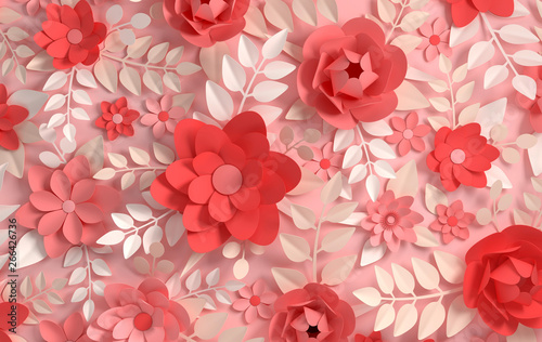 Obraz kwiaty   paper-elegant-pastel-colored-flowers-valentine-s-day-easter-mother-s-day-wedding-card
