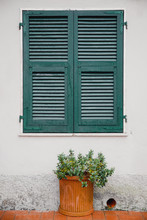 Green Window Shutters Wooden D...