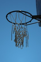 Worn Out Basketball Hoop On A ...