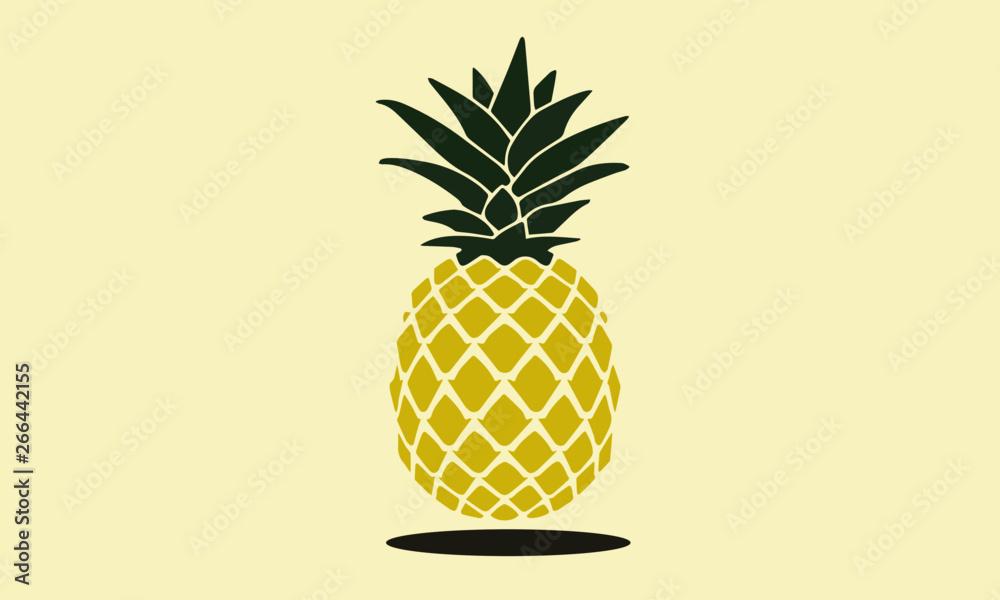 Fototapeta pineapple vector design illustration fruit summer