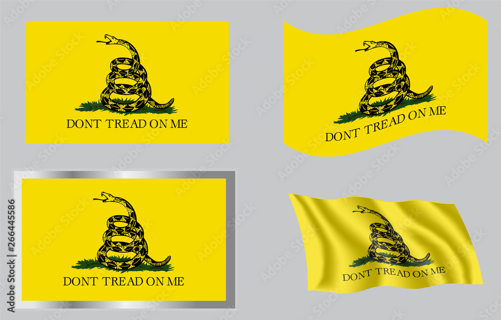 Fototapety, obrazy: Gadsden Don't Tread On Me Flag of 1776