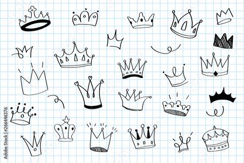 Foto  Hand drawn crowns