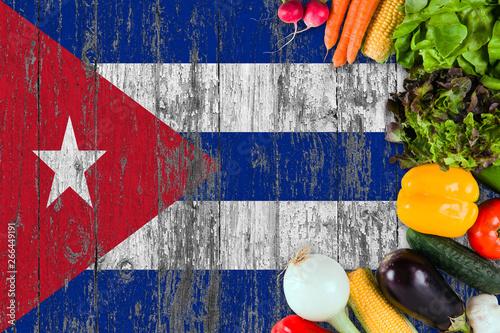 Fotografija Fresh vegetables from Cuba on table