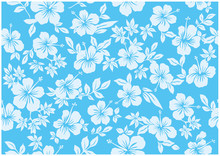 Seamless Hibiscus Illustration Pattern,light Blue,  Background Image Of Southern Country And Hawaii And Tropical Image | Apparel, Textile