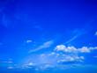Leinwandbild Motiv Beautiful blue sky and white cloud background.