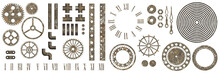 Big Set Of Steampunk Gear Coll...