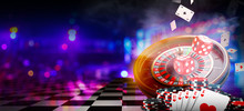 Casino Element Banner Isolatio...