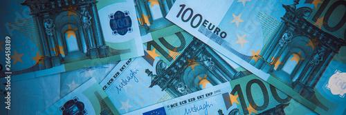 Cuadros en Lienzo Euro Money. euro cash background. Euro Money Banknotes.