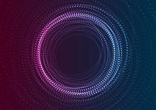 Neon Flowing Futuristic Partic...
