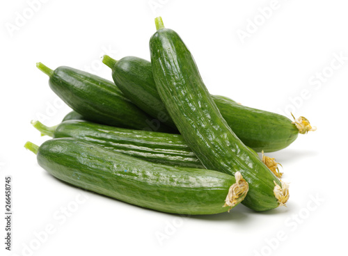 Lebanese Cucumber isolated on white background Tapéta, Fotótapéta
