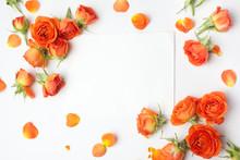 Framework From Orange Roses On...
