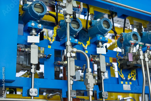 Fotografering Complex control system of gas equipment