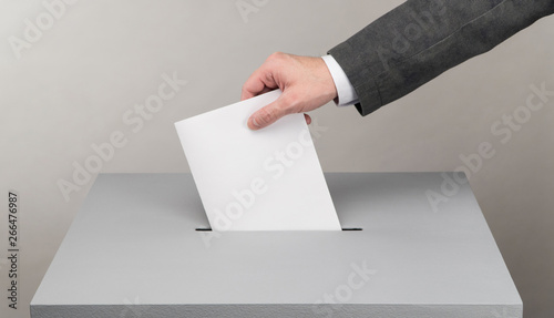 Fototapeta  Gray ballot box