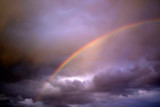 Fototapeta Tęcza - The rainbow after the storm