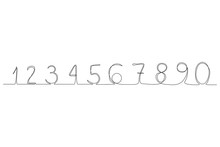 Continuous Line Numbers 0-9. New Minimalism. Doodle Numbers. Continuous Line Set Of Numbers.