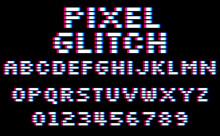 Glitch Pixel Font. Set Of 8 Bi...