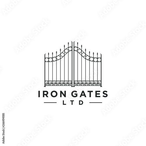 Carta da parati Gate logo design