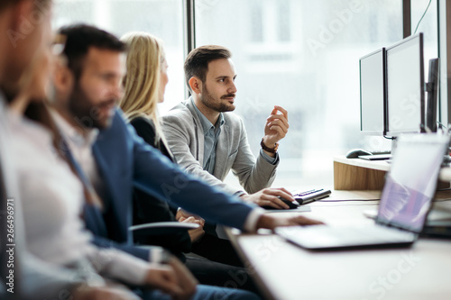Photo Stands Wall Decor With Your Own Photos Picture of business people working together in office