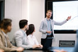 canvas print picture - Picture of business meeting in conference room