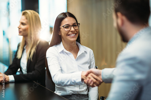 Picture of business people discussing on meeting