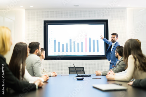 Fototapety, obrazy: Picture of business meeting in conference room