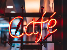 Cafe Neon Sign Lights Decorati...
