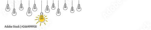 Fototapeta light bulbs idea conzept hanging obraz