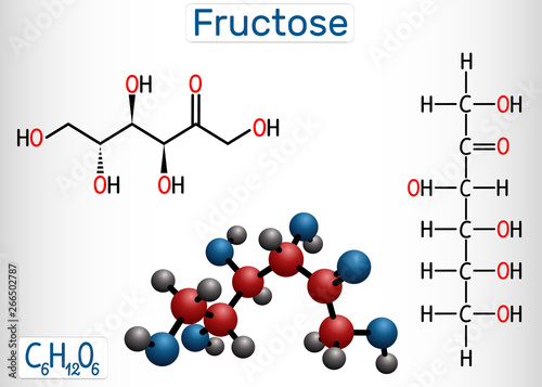 Fructose, D-fructose molecule Wallpaper Mural