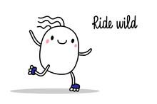 Ride Wild Hand Drawn Illustrat...