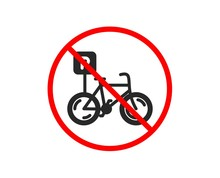 No Or Stop. Bicycle Parking Ic...
