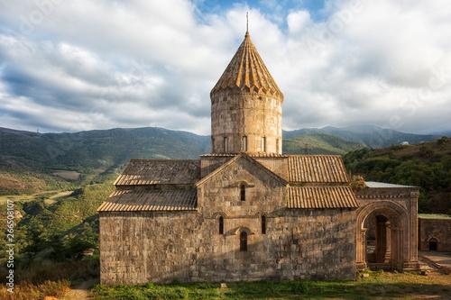 Obraz na plátne Ancient monastery in sunny day. Tatev. Armenia