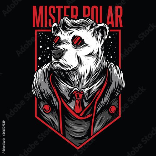Fototapeta Mister Polar Red Mafia Illustration obraz