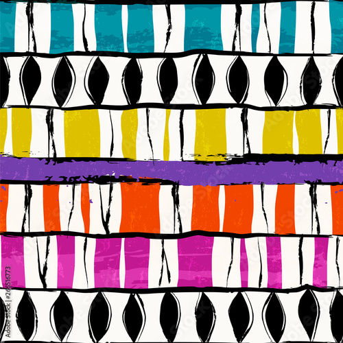 abstract pattern background, with stripes, oval, strokes and splashes, seamless