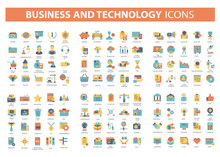 Set Vector Icons With Elements...