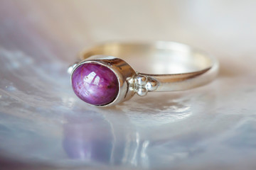 Beautiful silver ring with ...