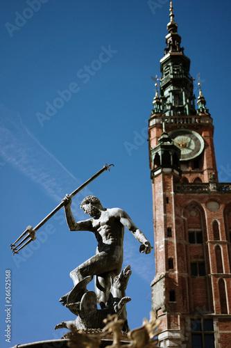 Photo Neptune Fountain in Polish Gdansk
