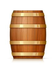 Wooden Barrel. Vessel For Keep...