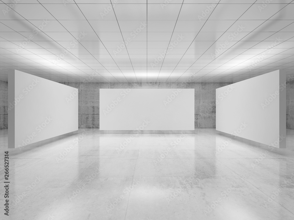 Fototapety, obrazy: Abstract empty minimalist interior 3 d