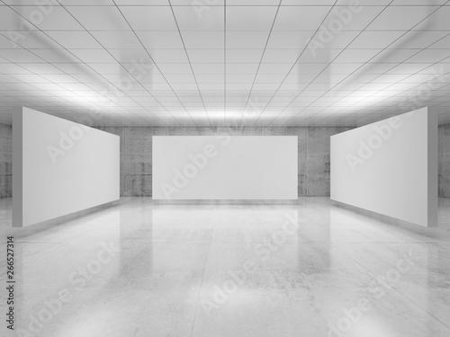 Fototapeta Abstract empty minimalist interior 3 d obraz