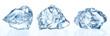 Leinwandbild Motiv Crushed ice isolated